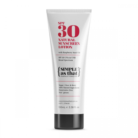 Natural sunscreen lotion SPF30 – Simple As That