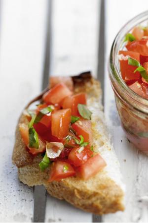 Bruschettamet tomatensalsa