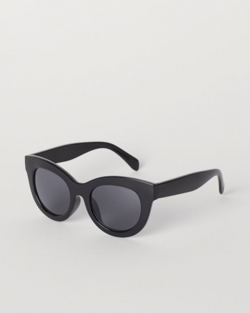 Zwarte cat eye-bril met getinte glazen