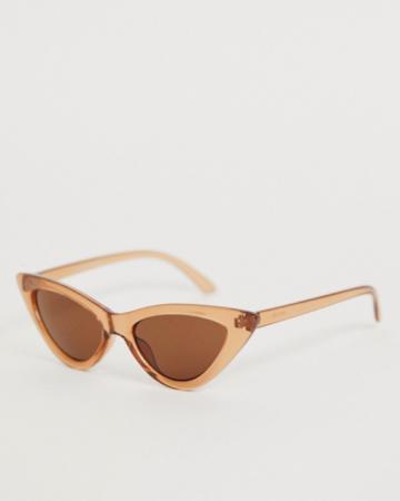 Bruine transparante zonnebril