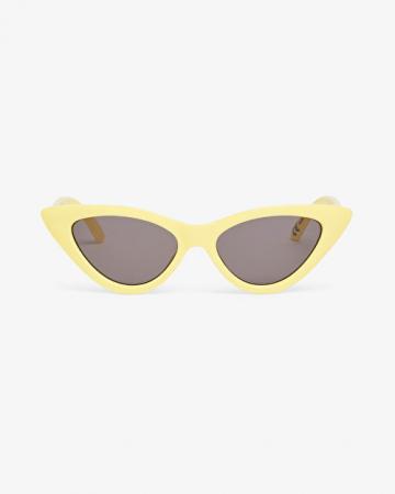 Gele transparante cat eye-zonnebril