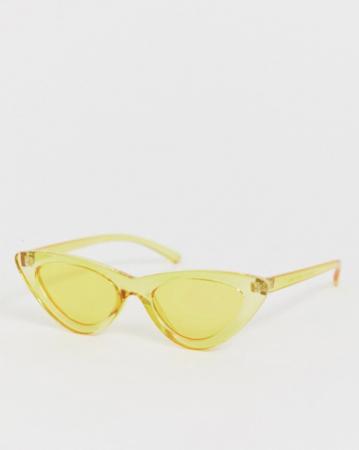 Gele transparante zonnebril