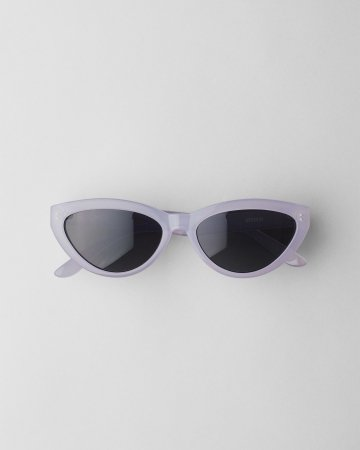 Paarse cat eye-zonnebril