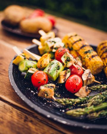 Kebab van groenten
