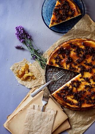 Cheesecake met Oreo's en lavendel