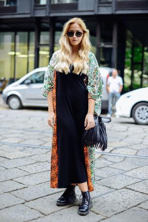 Lange jurk + kimono