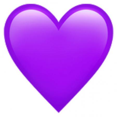 Afbeeldingsresultaat voor hartje paars