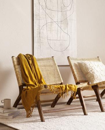 Set relaxstoelen met cane webbing