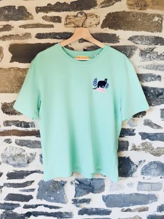 T-Shirt Panthère Vert