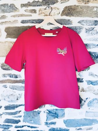T-Shirt Léopard Fushia