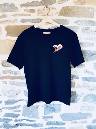 T-Shirt Noir Tigre