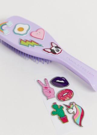 Te customizen haarborstel in lila