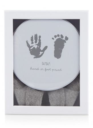 Giftset hand- of voetafdruk van gips