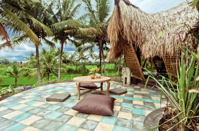 In een bamboehutje – Ubud, Bali
