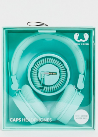 Muntgroene headphones