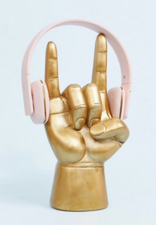 Goudkleurige headphonehouder