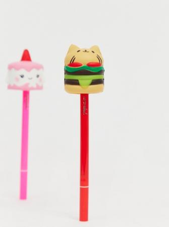 Set van twee potloden met figuurtjes