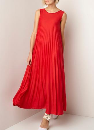 Rode maxi-jurk