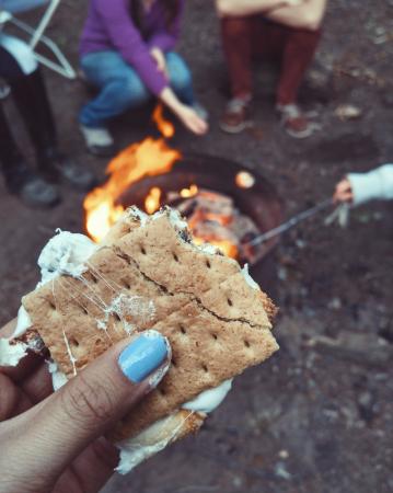 3. Organiseer een kampvuur met s'mores