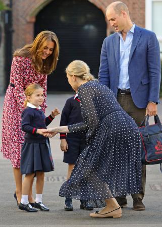 De eerste schooldag van prinses Charlotte