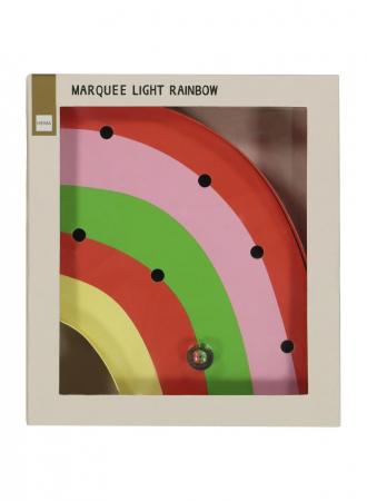 Circusverlichting regenboog
