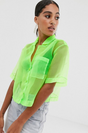 Semi-transparante blouse