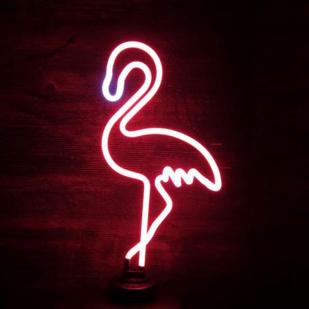 Neonlamp flamingo