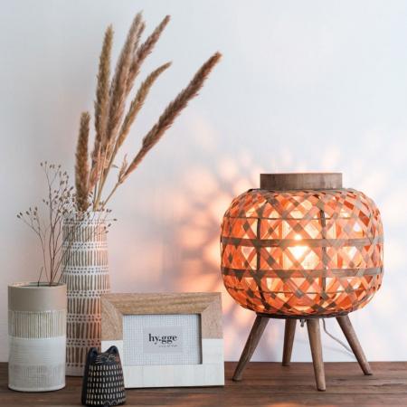 Lamp gevlochten bamboe