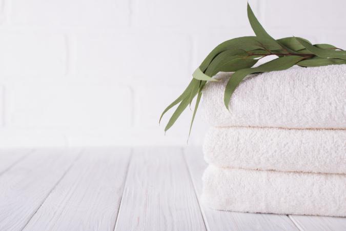 Hang een paarverse takken eucalyptusin de douche