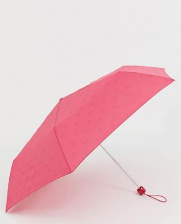Rode paraplu met hartjesmotief