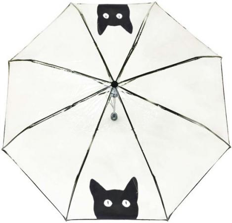Paraplu met zwarte kat