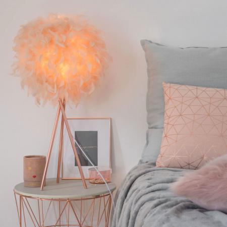 Lamp roze veren