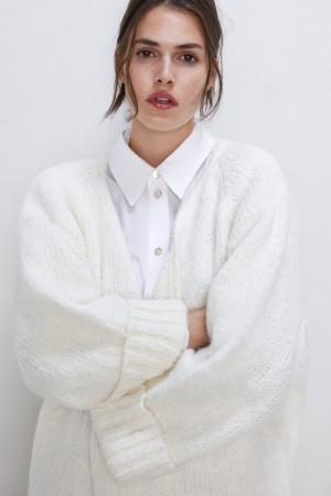 Oversized cardigan in het wit
