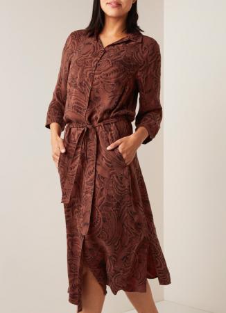 Midi-jurk met print