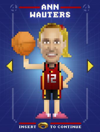 Basketbalspeelster Ann Wauters