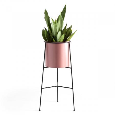 Roze bloempotstaander