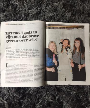 Onze seksuologe Ina Van Ransbeeck vertelt in de krant over het belang van openlijk praten over seks.