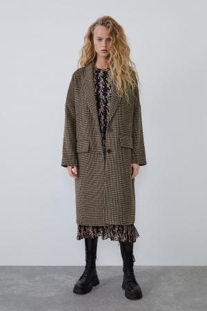 Manteau oversize à carreaux
