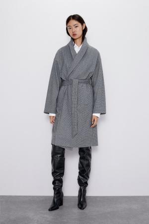 Manteau doux à ceinture