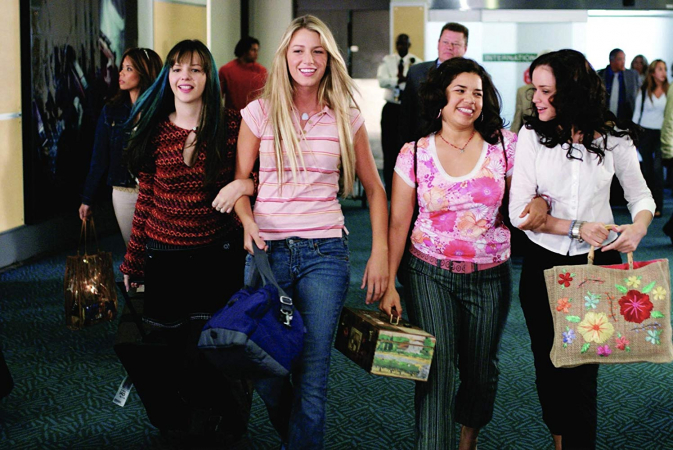 Tibby, Carmen, Lena en Bridget in 'The Sisterhoodof the Traveling Pants'