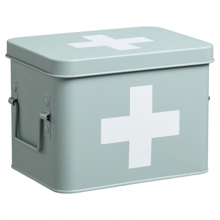 Muntgroene medicijnbox
