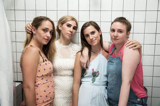 Jessa, Hannah, Shoshanna en Marnie in 'Girls'