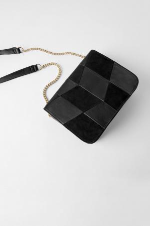 Sac bandoulière patchwork – Zara
