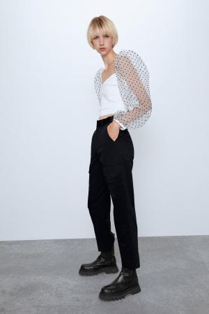 Top en plumetis – Zara