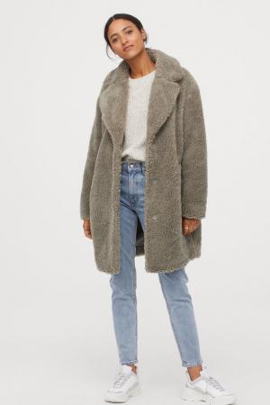 Manteau pelucheux
