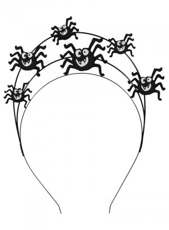 Tiara met spinnen