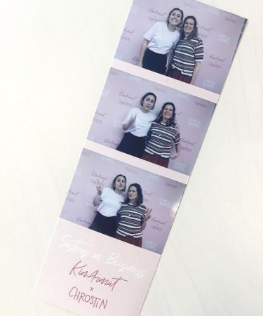 Op de lancering van Sisters in Business, de collectie van onze cartooniste Christina en modeonderneemster KinArmat.