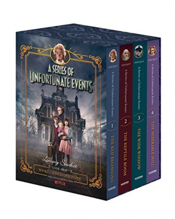 'A Series of Unfortunate Events': deel 1 tot 4 van Lemony Snicket (Engelstalig)