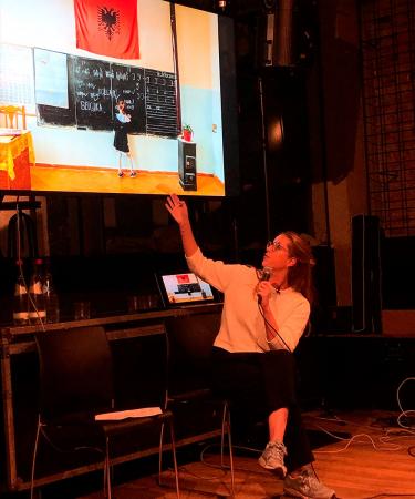 Collega Marie geeft een inspirerende talk over fotograferen met je smartphone.