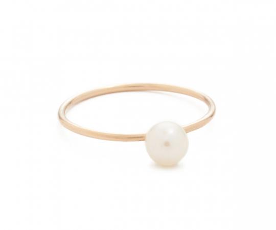 Bague en or 14 carats avec perle